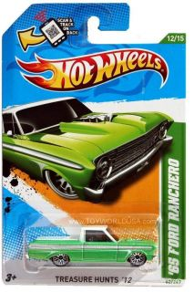 2012 Hot Wheels Treasure Hunt 62 1965 Ford Ranchero