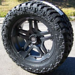 18 Teflon ATX Artillery Wheels Nitto Trail Grappler Jeep Wrangler JK