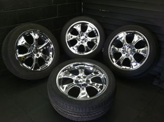 CHEVROLET AVALANCHE OEM 22 CADILLAC FACTORY CHROME WHEELS RIMS TIRES