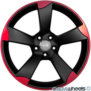 Red Wheels Fits VW Golf Jetta CC EOS GTI Passat Audi A3 A6 Rims