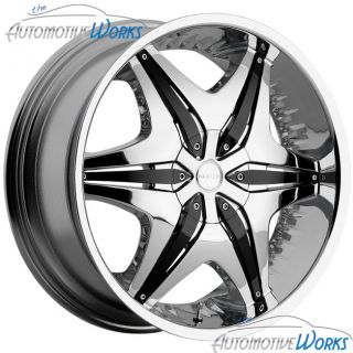 22x8 5 Akuza Chrome Wheels Rims inch Impala FWD 22