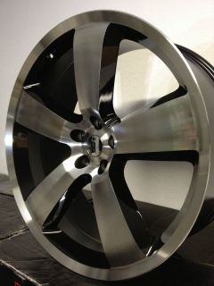 Black Machined Dodge Charger SRT 8 Factory Wheels Rim 5x115 Challenger