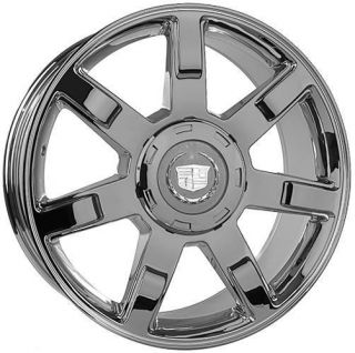 22 Wheels Rims for Cadillac Escalade Set All Chrome Finish with Caps