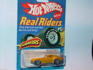 Hot Wheels 1982 Real Riders Split Window 63 Corvette Yellow Nice