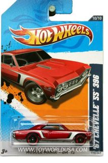 2012 Hot Wheels Muscle Mania GM 110 67 Chevy Chevelle SS 396