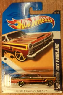 Hot Wheels 2012 Muscle Mania 2 10 66 Ford 427 Fairlane Brown