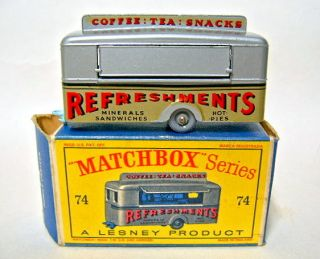 Matchbox RW No 74A Mobile Canteen Late Pale Blue Base