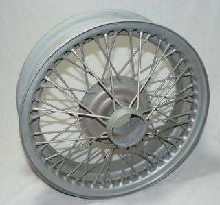 STEEL WIRE RIM WHEEL TRIUMPH AUSTIN HEALEY MG MGB 15 DRC 48 SPOKE