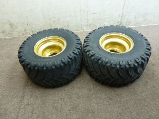 1987 87 Yamaha Warrior 350 Rear Wheels Rims Tires Wheel Set