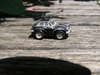 RARE Vintage Black Mini Hotwheels Car Plastic