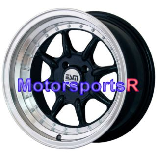 16 16x8 ESM 002 BLACK Wheels Rims Stance 82 83 84 85 86 87 90 91 BMW