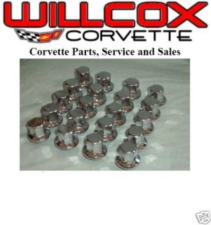 75 82 Corvette Lug Nut Set w Alum Wheels New