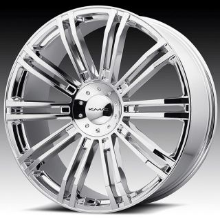 24 inch KMC Chrome Wheels Rims 5x4 5 5x114 3 Supra Camry Matrix