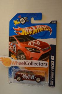 09 Ford Focus RS RED * 2012 Hot Wheels * P Case * Super Treasure Hunt