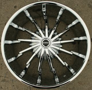 Strada Stiletto 22 Chrome Rims Wheels Lincoln LS V6 V8 rwd 22 x 8 5