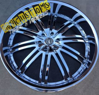 22 inch Versante Rims Wheels Tires VW212 Chrome Impala 2000 2001 2002