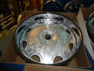 24x9 24X10 Forgiato Fiore 3 Piece Wheels 5x4 3 4 Chevelle Box Chevy