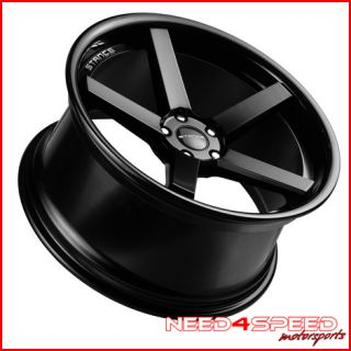 E350 E500 Black Stance SC 5IVE Concave Staggered Wheels Rims