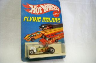 Hot Wheels Mattel Flying Colors Street Rodder 1975 Red Line