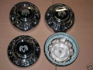 94 99 Dodge 8 Lug RAM Truck Steel Wheel Center Caps Set