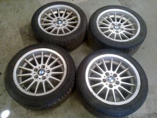 Genuine 4 x BMW 17 Alloy Wheel Set with Good Tyres 1092962 3 5 7