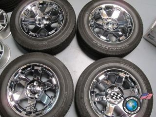 1500 Factory Chrome Clad 20 Wheels Tires OEM Rims 2365 275 60 20 GDY