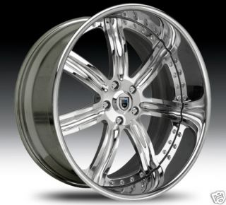 AF126 AF 126 Chrome Multi 2 Piece Rims Wheels Tires Package