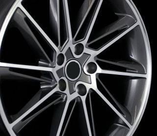 Gun Metal Machined Face Wheels Rims 5x112 35 Offset Fit Tiguan