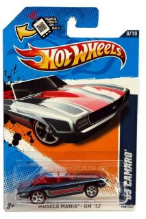 2012 Hot Wheels Muscle Mania GM 108 1969 Chevy Camaro Super Treasure