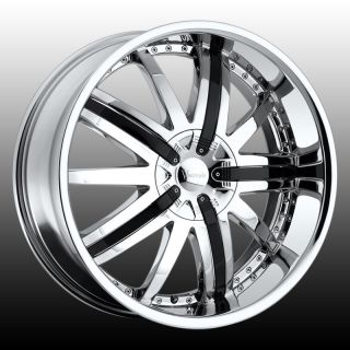 22 VER210 Wheels Rims Tires 5x115 Charger Challenger Magnum 300C