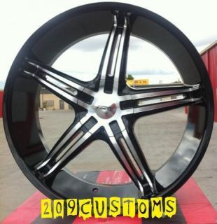 20 inch Wheels Tires Forte 56 Black 5x127 Chevy Impala 1972 1973 1974