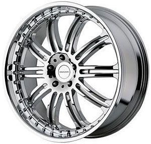 American Racing 12724085225 KMC Dime Series 127 Chrome Wheel