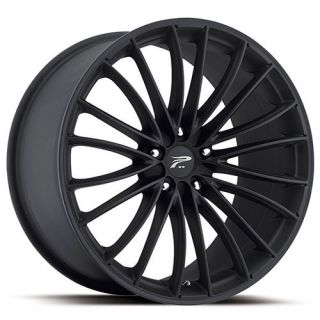 20 inch 20x8 5 Platinum Monarch Black Wheel Rim 5x120 Pilot Discovery