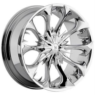 Martin Bros. Vampire Chrome Wheels Rims 5x120 BMW 7 Series Range Rover