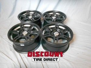 USED 17x8 5 6x139 7 6 139 7 OR7 Matte Black Mach Undercut Wheels Rims