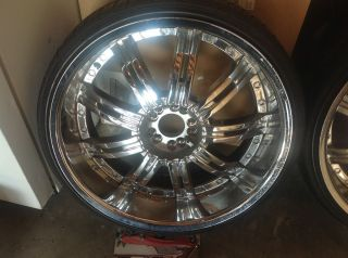 TW011 5 Lug Wheel Set 22x8 5 Chrome Rims 5x112 5x139 7 rwd Rims