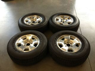 Chevy Silverado 17 Factory Wheels and Goodyear Tires 265 70R17