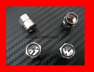 Black VW Volkswagen Wheel Tire Rim Valve Stem Caps Cap