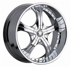 22 inch x9 5 Devino Adana Chrome Wheels Rims 5x5 5x127