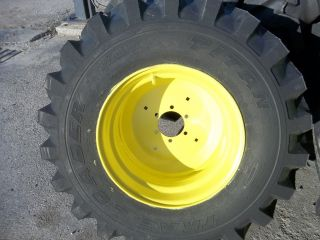 Ply R4 4400 John Deere Backhoe Farm Tractor Tires w 6 Hole Rims