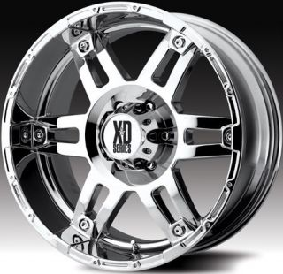 18 inch x9 KMC XD Spy Chrome Wheels Rims 8x6 5 8x165 1