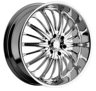 22 inch 22x9 5 Akuza Belle Chrome Wheels Rims 6x135 35