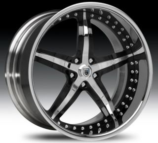 20 asanti AF156 Black Chrome Wheels Rims 2 Piece Tone