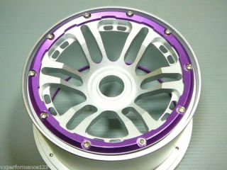 2X Front 12 Spoke CNC Alloy Wheel Rims HPI Baja 5B KM