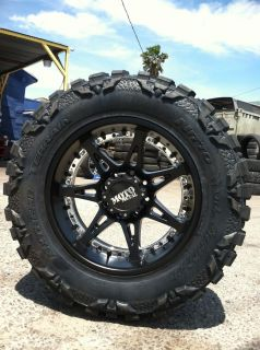 20 Black Wheels Tires 8x165 Hummer Chevy Dodge 35 12 50 20 Nitto Mud
