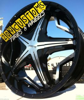 20 inch Forte 19 Black Wheels Rims Tires 6x139 7 20x8 5 Toyota