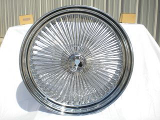 20 Dayton Chrome 20x8 Wire Wheels Full Set Rims New Rear Wheel Drive