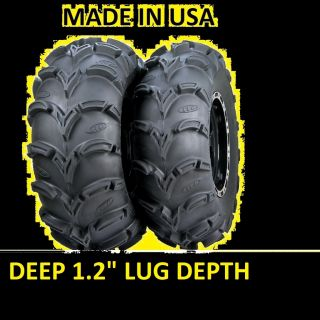Two 2 25x8 12 XL American Made ITP Mud Lite ATV Tires New Deep 1 2