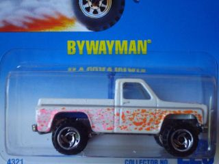 Hot Wheels Blue Card Bywayman Pickup Truck White 220