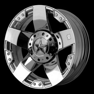 22x12 XD Rockstar Chrome Wheels 8x170 Ford Superduty Ford Excursion